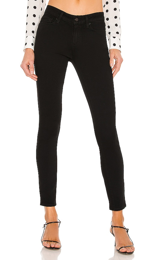 Paige Denim Verdugo Ankle Skinny in Black Shadow
