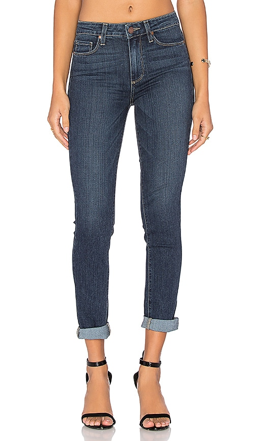 Paige Denim Hoxton Crop Rollup in Electra