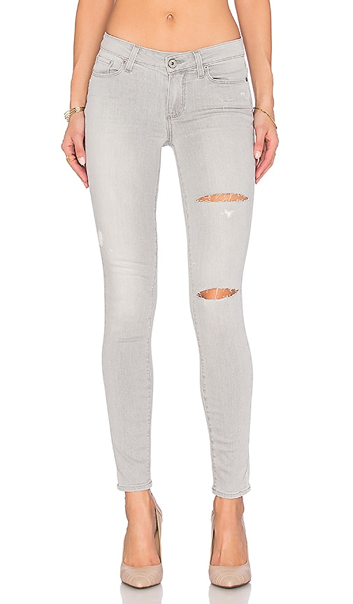 Paige Denim Verdugo Ultra Skinny in Grey Mist Destructed