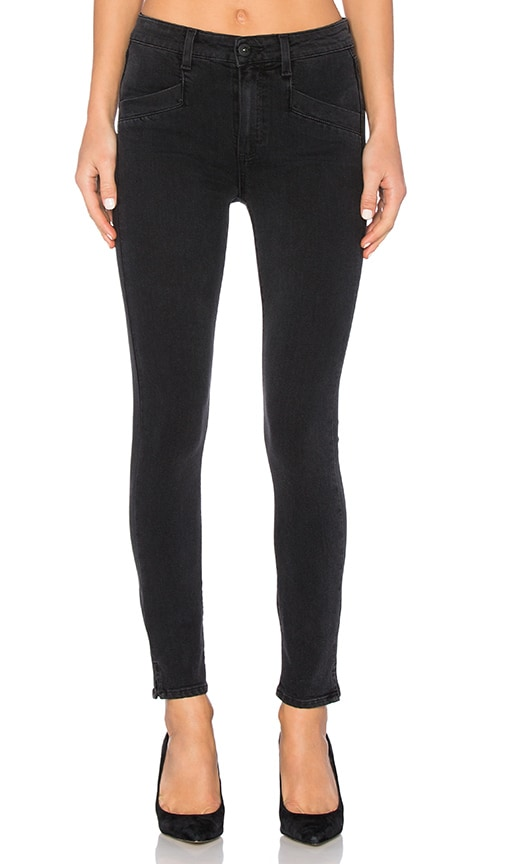 Paige Denim Roxxi Ankle Skinny in Black Fog