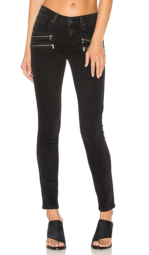 Paige Denim Edgemont Ultra Skinny in Black Fog