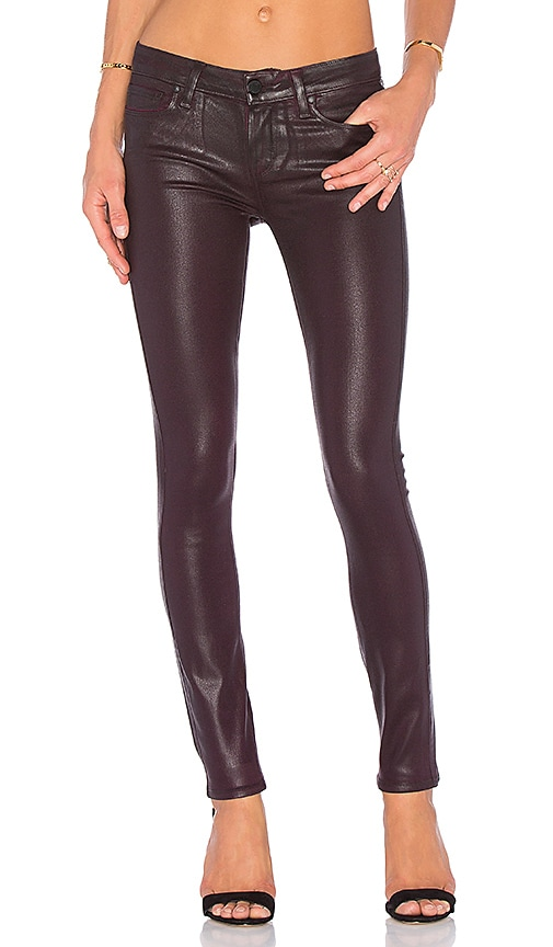 Paige Denim Verdugo Ultra Skinny in Wine Luxe Coating