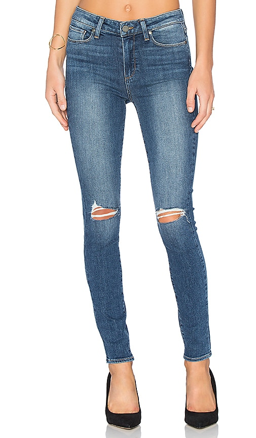 Paige Denim Hoxton Ultra Skinny in Keiran Destructed