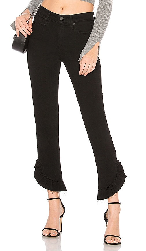 PAIGE Hoxton Ankle Jean in Black Shadow