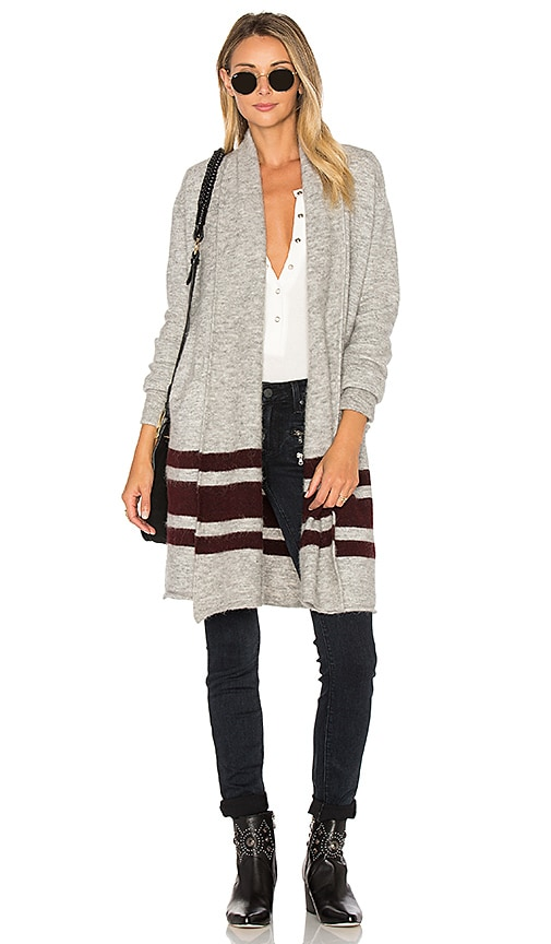 Paige Denim Maison Cardigan in Gray