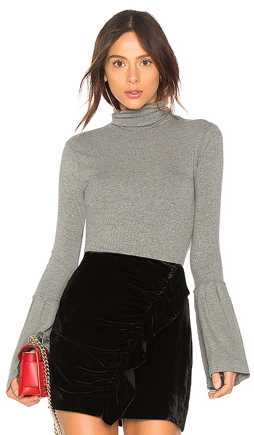 PAIGE Kenzie Turtleneck Sweater in Gray