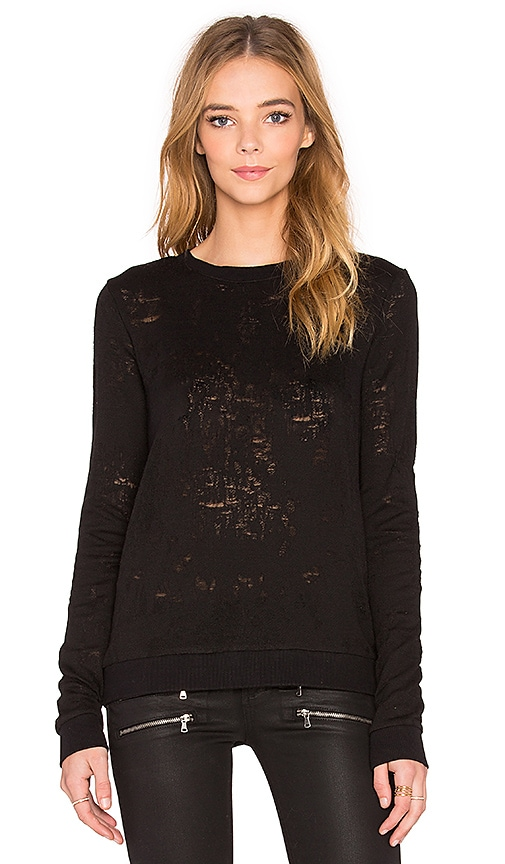 Paige Denim Josette Sweatshirt in Black