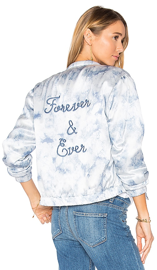 PAIGE Rosie HW x PAIGE Flo Bomber Jacket in Blue