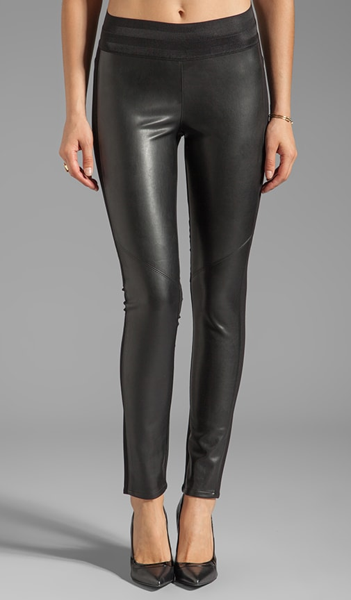 Denim Paloma Ponte Vegan Leather Legging