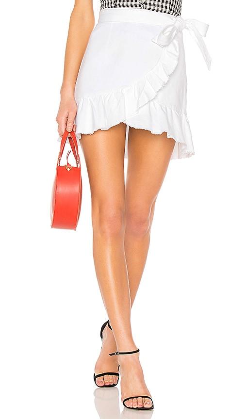 Cheap PAIGE Nivelle Skirt in Crisp White for cheap