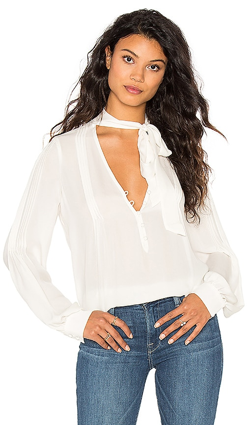 Paige Denim Lupita Blouse in Ivory