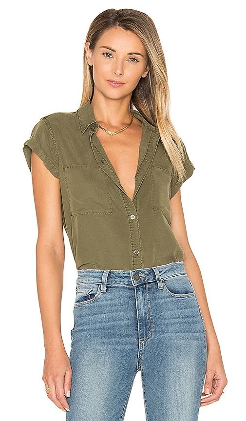 Paige Denim Mila Shirt in Olive