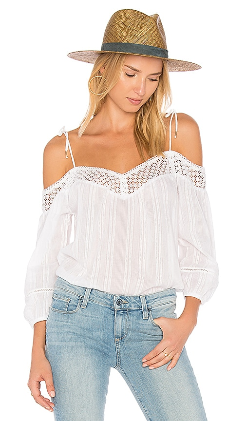 PAIGE Polly Blouse in White