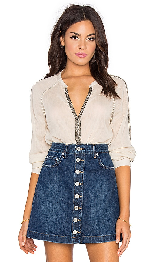 Paige Denim Marissa Blouse in Natural