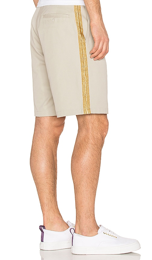 Palm Angels Uniform Trimming Shorts in Beige