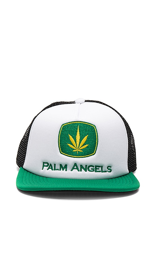 Palm Angels Agrimotor Cap in White