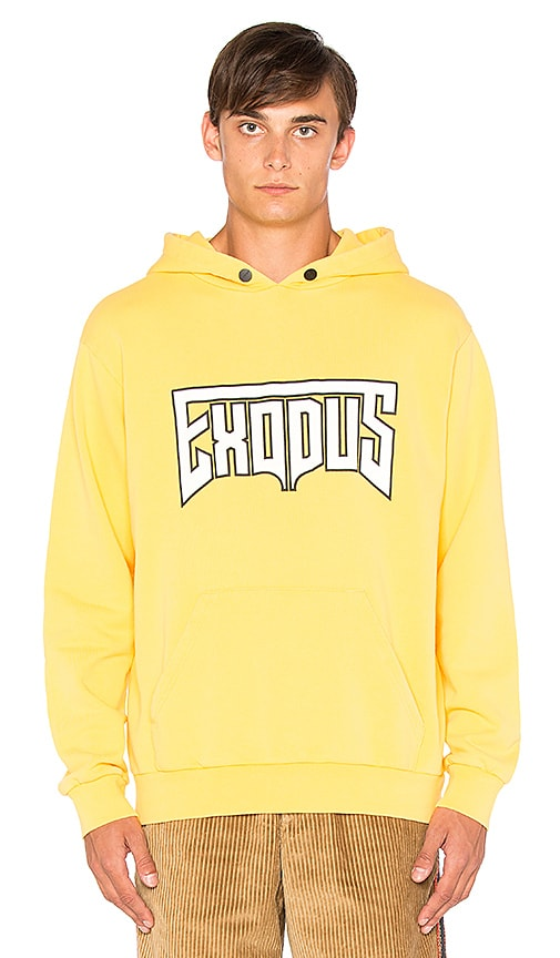 Palm Angels Exodus Hoodie in Yellow