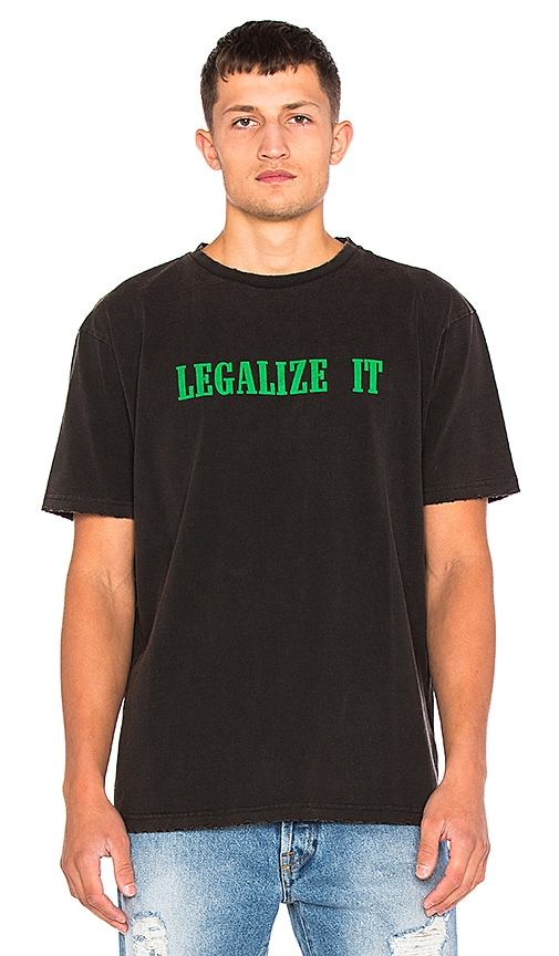 Palm Angels Legalize It Tee in Charcoal