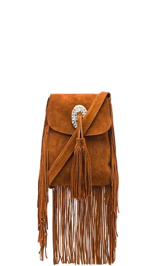 Coyote Suede Crossbody Bag