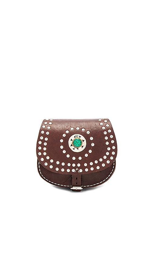 Pamela V. Cochelita Small Crossbody Bag in Chocolate Brown