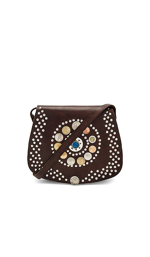 Pamela V. Barranco Bag With Blue Stone in Brown
