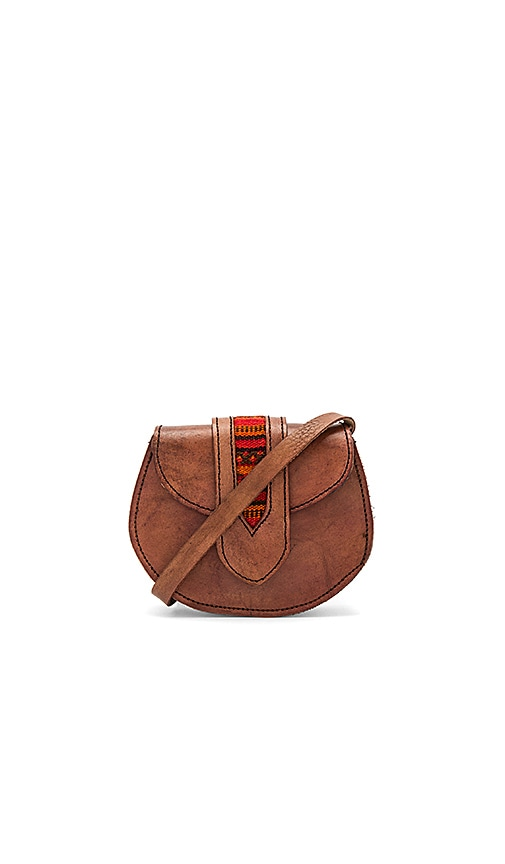 Pamela V. Tarata Crossbody Bag With Red Tab in Brown