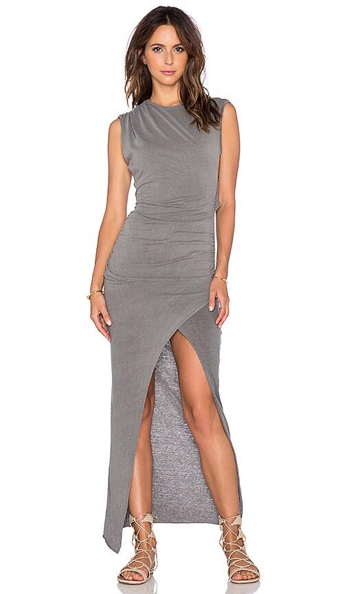 Pam & Gela Twist Maxi Dress in Faded Charcoal