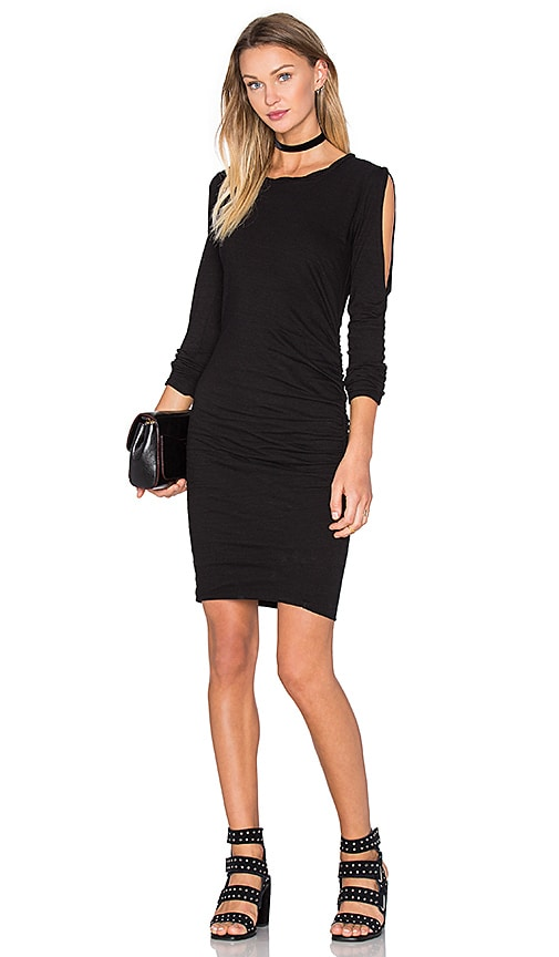 Pam & Gela Cold Shoulder Dress in Black