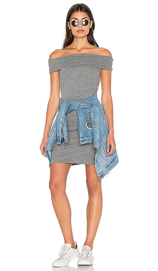 Pam & Gela Off Shoulder Dress in Gray