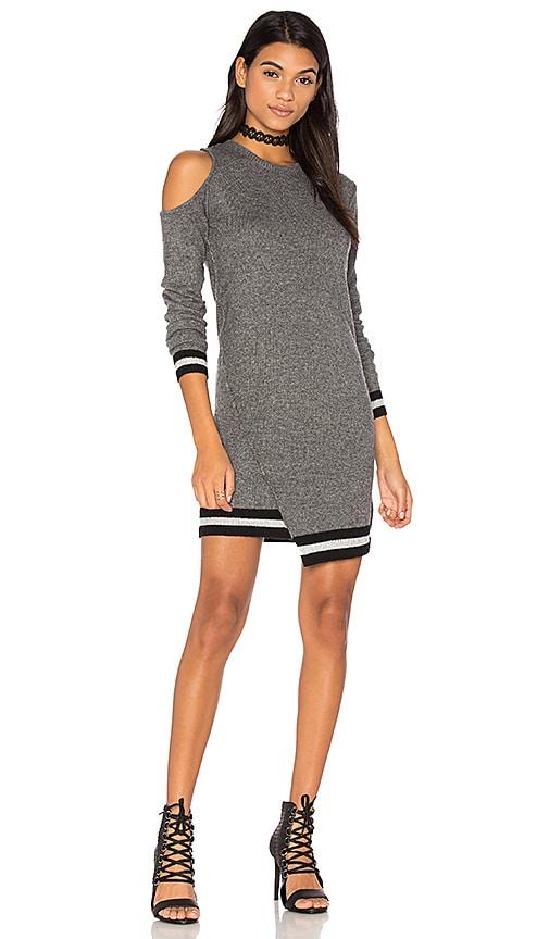 Pam & Gela Cold Shoulder Dress in Gray