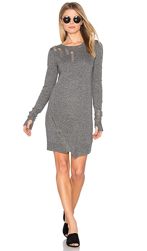 Pam & Gela Shredded Dress in Gray