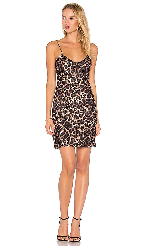 Pam & Gela Slip Dress in Brown