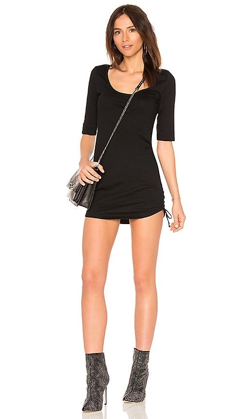 Pam & Gela Scoop Neck Dress in Black