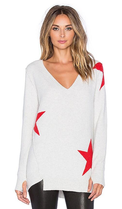Pam & Gela V-Neck Sweater in Grey