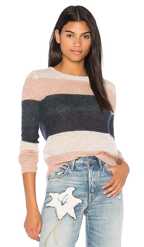 Pam & Gela Multi Stripe Sweater in Pink
