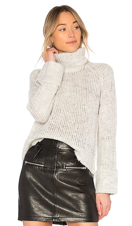 Pam & Gela Torn Sweater in White