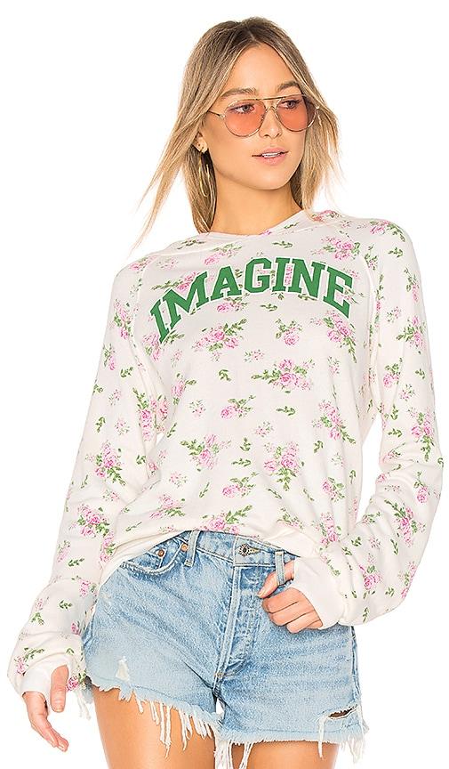 Pam & Gela Imagine Sweatshirt in Cream
