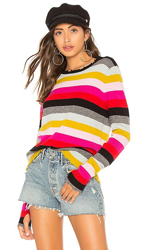 Multistripe Crew Neck Sweater