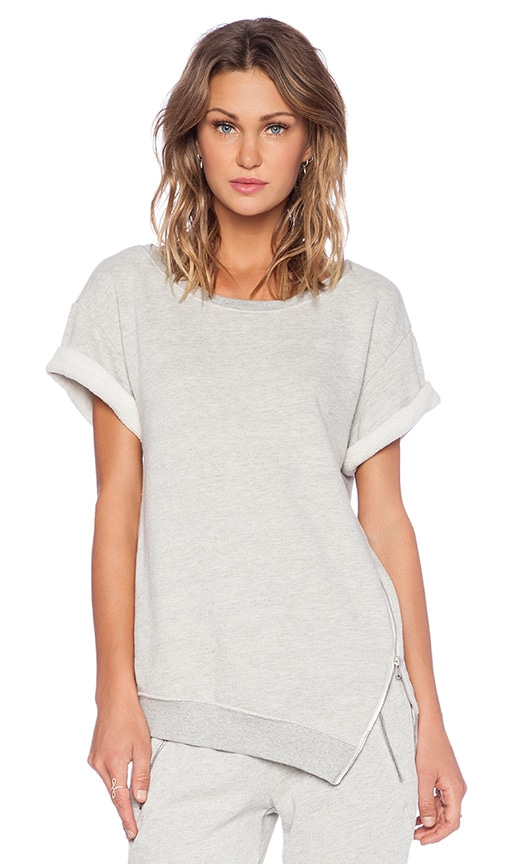 cb35b09da0cc4 Pam & Gela Short Sleeve Sweatshirt in Heather Grey | REVOLVE