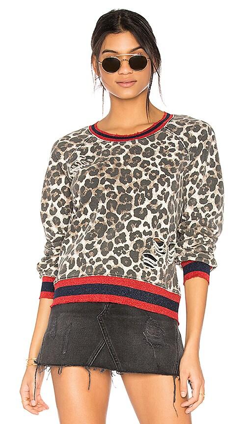 Pam & Gela Leopard Print Sweatshirt in Brown