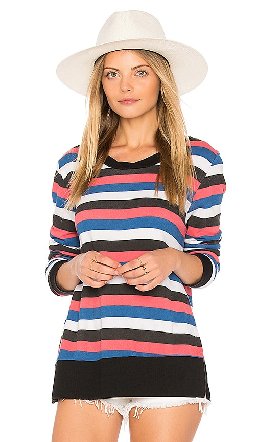 Pam & Gela Stripe Sweatshirt in Red