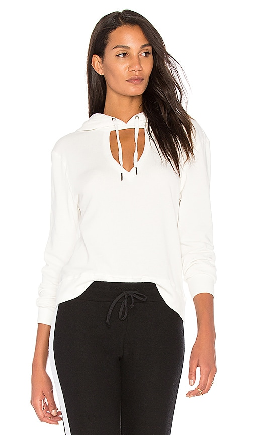 Pam & Gela V Neck Sweatshirt in White