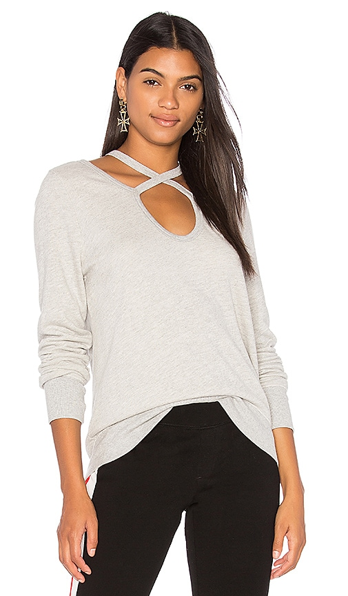 Pam & Gela Rib Sweatshirt in Gray