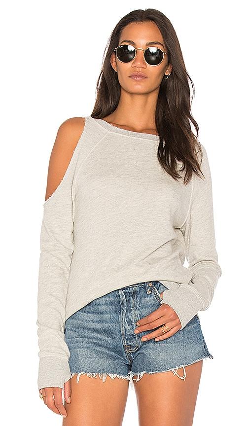 Pam & Gela Cutout Sweatshirt in Gray