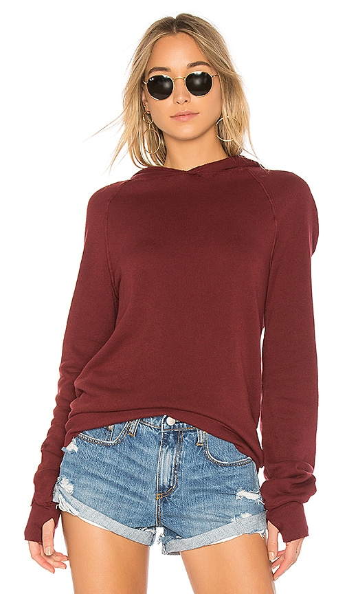 Pam & Gela Distressed Sweatshirt in Wine