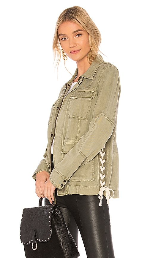 Pam & Gela Field Jacket in Green