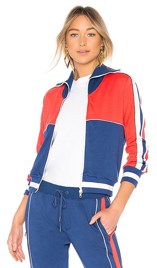 Pam & Gela Colorblock Slim Track Jacket in Blue