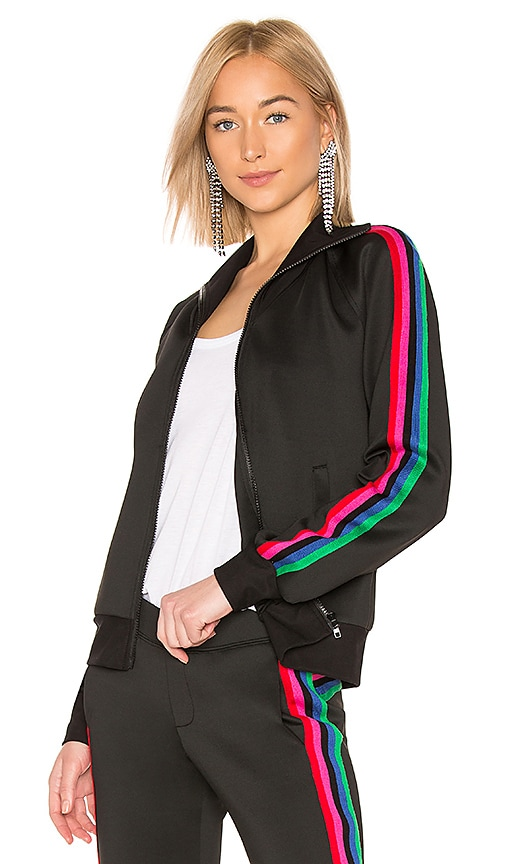 Track Jacket With Rainbow Stripes