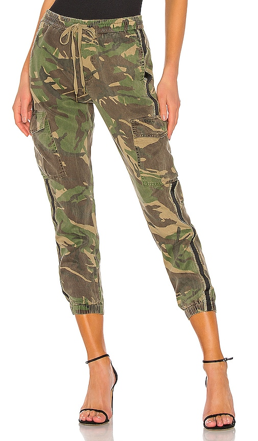 Side Stripe Cargo Pant in Army Camp