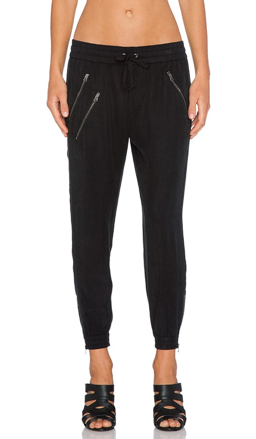 Pam & Gela Track Pant in Black